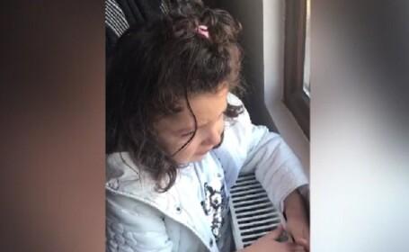 Imagini înduioșătoare cu o fetiță din Bacău care plânge că nu poate merge la vot. Cu cine dorea să voteze