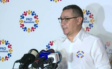 Reacţia lui Victor Ponta, după ce Pro România a obţinut un rezultat la limita intrării în Parlament