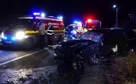 Impact devastator pe un drum din județul Maramureș. 5 persoane au fost rănite, iar pagubele materiale sunt uriașe
