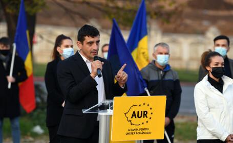 Liderul AUR, George Simion, susține că partidul său va declanșa suspendarea lui Iohannis