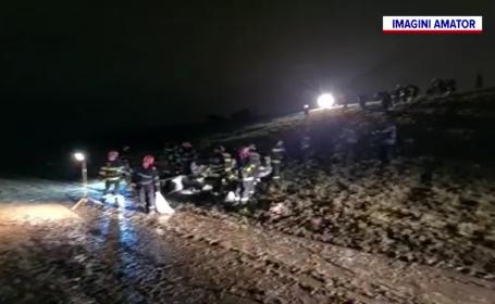 Mobilizare de forțe lângă Ploiești, pentru a stabiliza un dig care este pe cale să cedeze