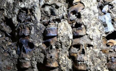 VIDEO. Turn format din peste 100 de cranii umane, descoperit în capitala Mexicului