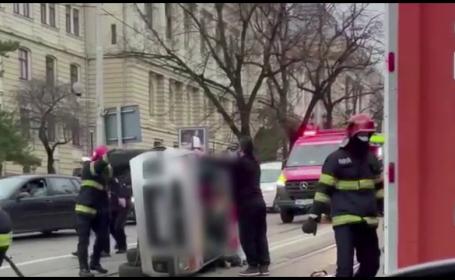 Accident grav în Iași, cu 3 mașini implicate. Un șofer de 88 de ani a murit în drum spre piață