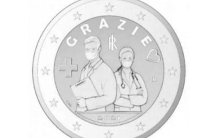 O monedă de 2 euro, omagiul adus personalului medical din Italia, care a luptat împotriva Covid-19. Cum va arăta