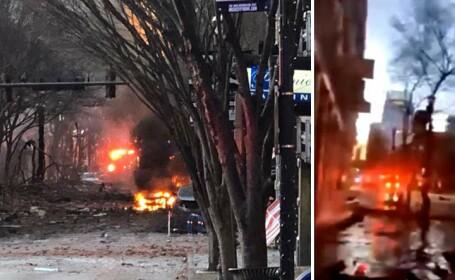 VIDEO. Explozie violentă în orașul american Nashville. Poliția locală: \