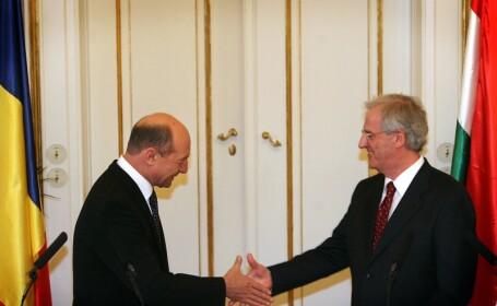 Traian Basescu si Laszlo Solyom
