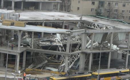 Hala in constructie, prabusita in Oradea!
