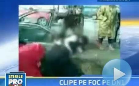 Groaznic accident la iesirea din Bucuresti, pe DN1! Cinci oameni raniti