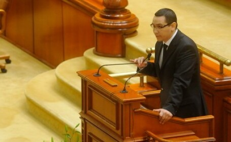 Victor Ponta in Parlament
