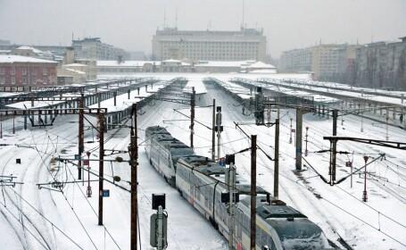 trenuri anulate, calea ferata, cfr, zapada