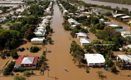 Orase intregi inghitite de ape. Cele mai grave inundatii din ultimele 3 decenii, in Australia