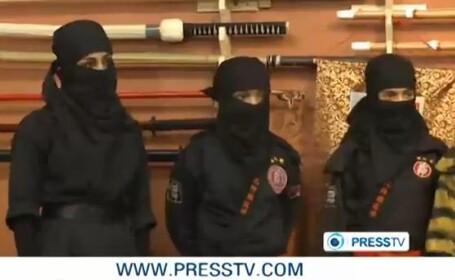 iraniene invata sa fie ninja