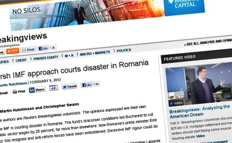 Analiza Reuters: in Romania, FMI a fost ca un \