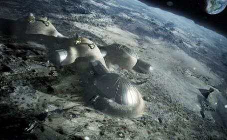 O companie britanica a dezvaluit planurile de construire a unor cladiri pe Luna