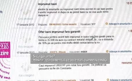 Camatarii isi publica ofertele pe Internet. Dobanda unui \