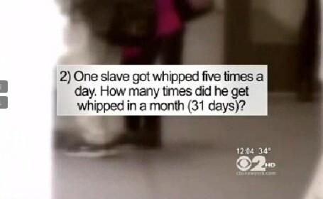 Exercitiul din tema de la matematica a provocat un scandal urias. Intrebari despre sclavi si crime