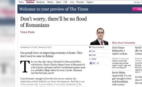 interviu Ponta The Times