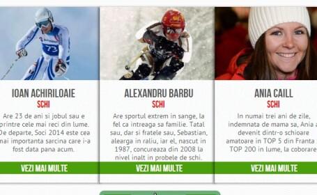 INFOGRAFIC INTERACTIV www.sport.ro. Povestile romanilor care viseaza sa cucereasca lumea in 2014