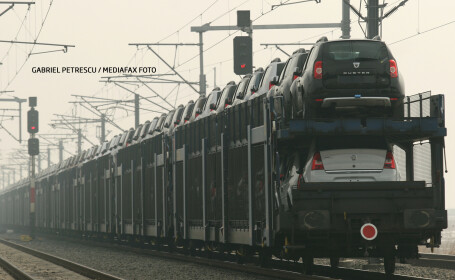 transport Dacia pe tren