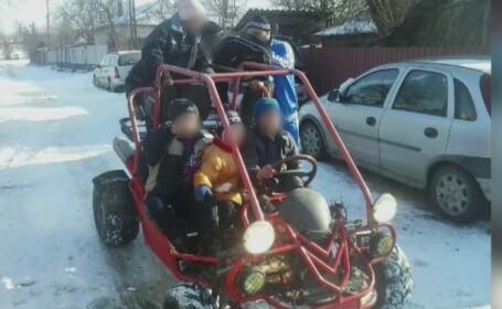 Barbat din Tulcea, cercetat dupa ce si-a lasat fiul de 8 ani sa conduca un vehicul costruit special pentru teren accidentat