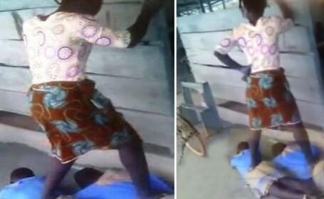 Caz revoltator la o scoala din Ghana. O profesoara ii calca in picioare pe elevii care nu isi fac temele. VIDEO