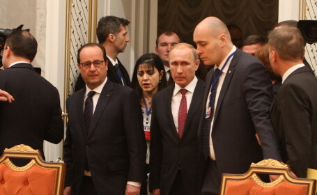 Vladimir Putin, Francois Hollande