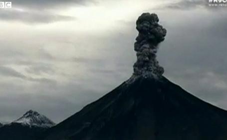 Vulcanul Colima, din Mexic, a erupt din nou. Imaginile spectaculoase au fost transmise live, pe internet