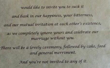 Parintii ei abuzivi au incercat sa se autoinvite la nunta. Nu se asteptau insa la un asemenea gest din partea miresei