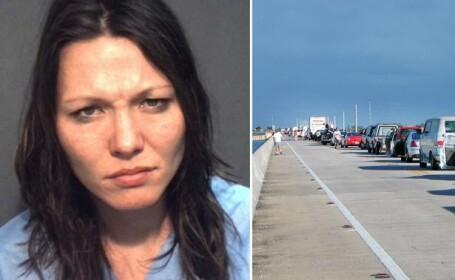 Moment bizar in SUA. Zeci de soferi au ramas blocati in trafic din cauza unei femei goale