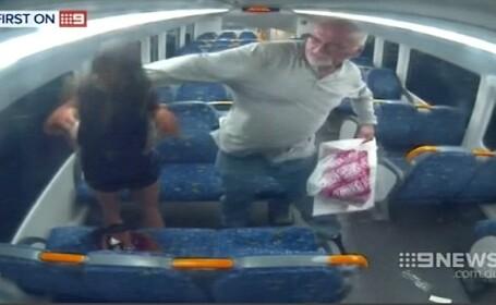 Incident violent intr-un tren din Australia. O femeie cu probleme psihice a fost batuta de un barbat