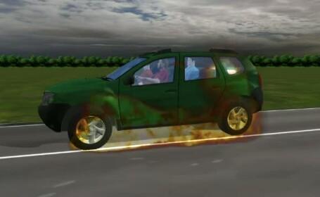 animatie explozie masina