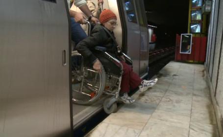 Problema spatiului dintre peron si vagon, la metrou, reclamata si de persoane cu dizabilitati. ANPC vrea avertizare sonora