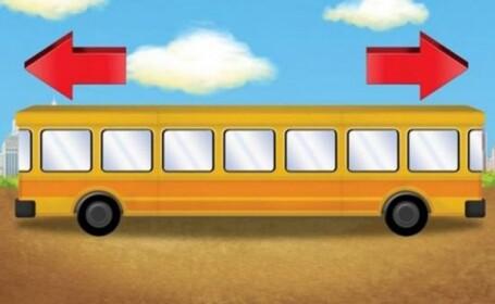 In ce directie merge autobuzul din imaginea alaturata?