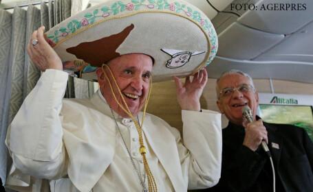 papa cu un sombrero pe cap