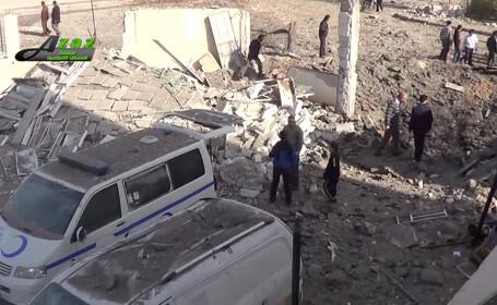 SUA acuza Rusia ca a bombardat spitale in Siria. Guvernul sirian da vina pe fortele americane