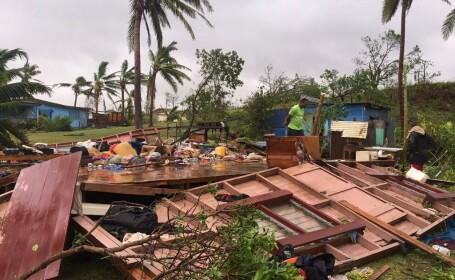 Un ciclon a făcut ravagii în Arhipelagul Fiji. Peste 2.600 de persoane evacuate