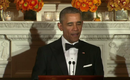 Mesajul codat transmis de Barack Obama la ultima cina cu guvernatorii: \