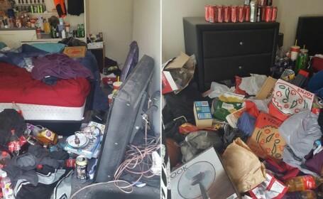 I-a cerut chiriasului sa-i evacueze casa, insa a avut parte de un soc. Ce se ascundea in cele 200 de sticle gasite inauntru