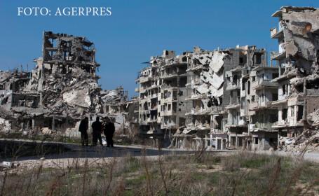 ruine in Homs, Siria
