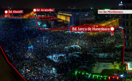 Filmul celor mai mari proteste de la Revolutie incoace. Cate persoane au fost de fapt in Piata Victoriei in momentul de varf