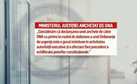 DNA a inceput urmarirea penala in dosarul privind emiterea ordonantei de urgenta marti noaptea. Reactia ministrului Justitiei