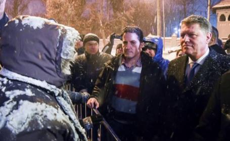 Klaus Iohannis, protest Cotroceni