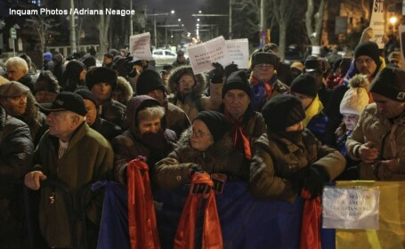 300 de oameni la Cotroceni, in a sasea zi de protest: \