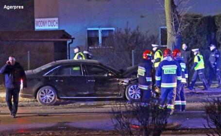 Premierul Poloniei, implicat intr-un accident rutier. Beata Szydlo a fost transportata cu elicopterul la spital