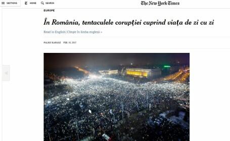 Articol in romana pe New York Times