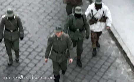 Steaguri naziste si uniforme SS, pe strazile Budapestei. Extremistii au comemorat o batalie impotriva rusilor si a romanilor