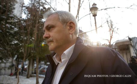 Liviu Dragnea, președintele PSD, sosește la sediul Înaltei Curți de Casație și Justiție din București, marți 14 februarie 2017. Inquam Photos / Geor
