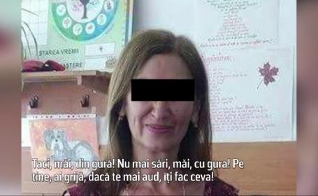 Invatatoare din Brasov inregistrata in timp ce-si jigneste si umileste elevii: \