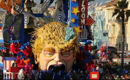 600.000 de turisti, asteptati la carnavalul din orasul italian Viareggio. Cum a fost ironizat Trump printr-un car alegoric