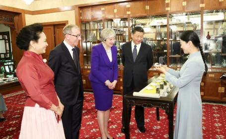 Premierul britanic Theresa May îi face cadou președintelui Chinei DVD-uri cu serialul Planeta Albastră
